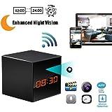 Spy Network Camera HD Wireless Hidden Camera Smart Clock WiFi Fluent Video Recorder with Enhanced Night Vision