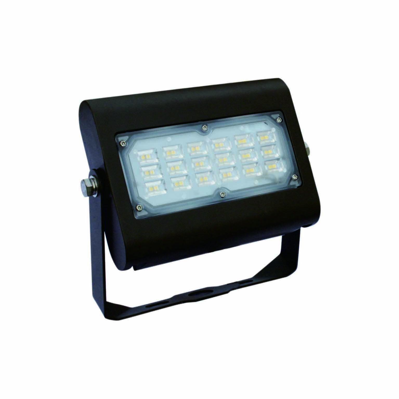 DLC-Listed LED 30 Watt Exterior Commercial Floodlight, 4000K Neutral White, 120V-277V, Comparable to 100-150W MH-HPS, 2900 Lumens, Bracket Wall Mount, UL-Listed, LEDrock Warranty Based Denver, CO, USA by LEDrock