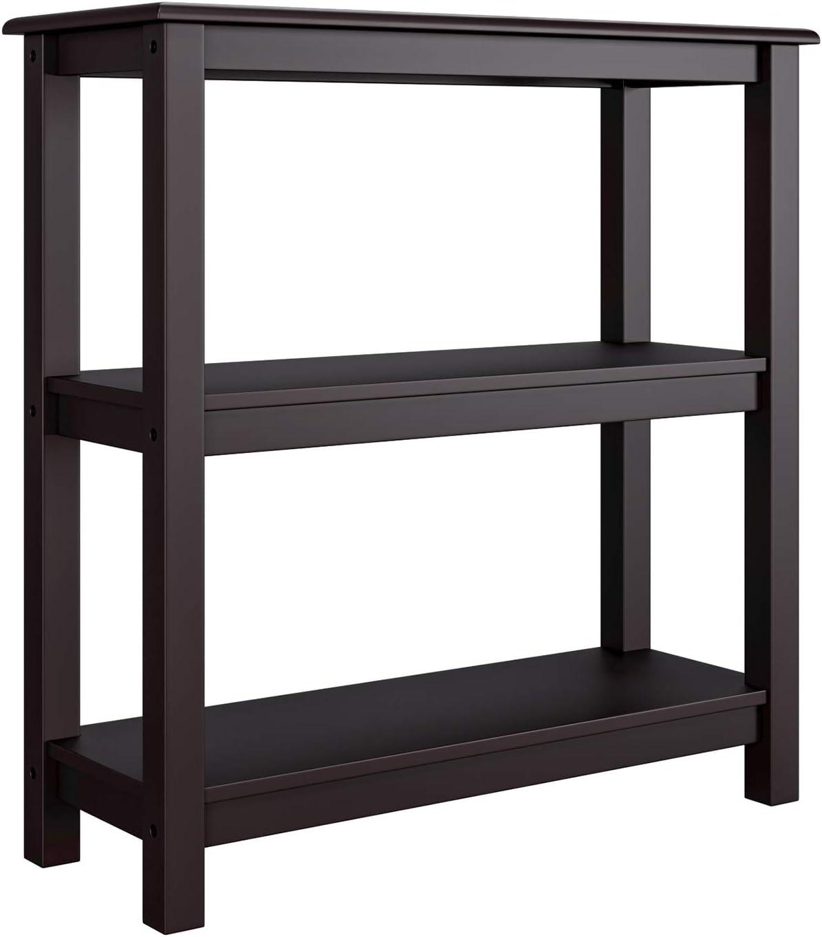 Homfa 3 Tier Shelving Unit Wooden Storage Rack Standing Organiser Shelves Side Table Shoe Rack for Living Room Bedroom Bathroom Dark Brown 78x30x80cm