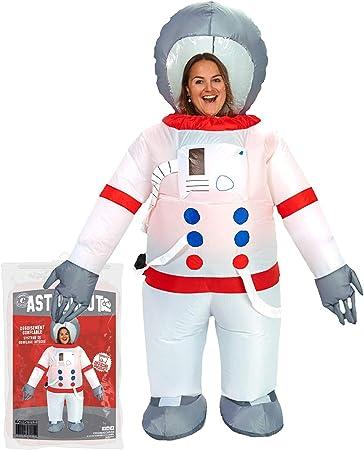 Original Cup - Disfraz Hinchable con Bomba de Aire USB, Traje Inflable Adultos para Fiesta, Conciertos, Halloween - Astronaute