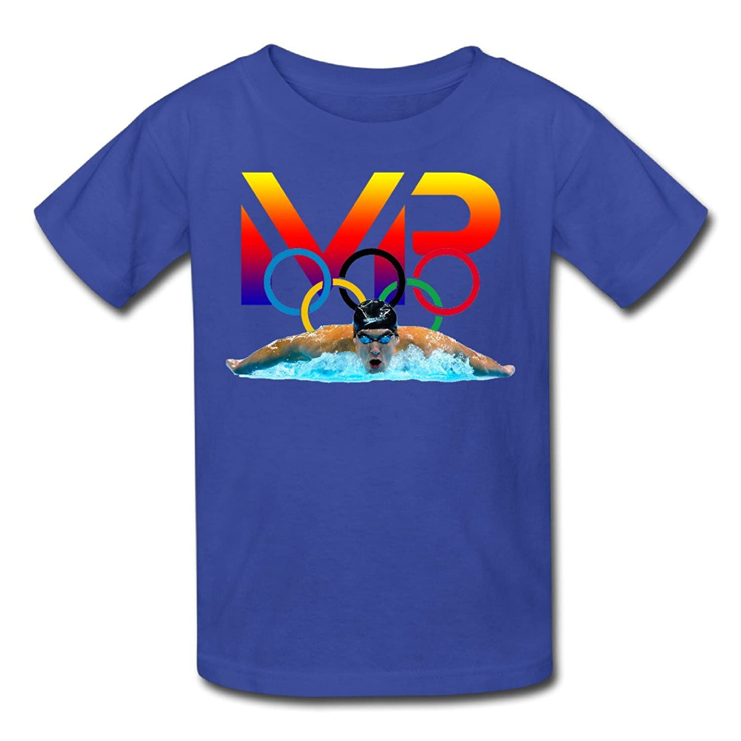 Youth Quotes Pre-cotton Michael Phelps Logo4 T-Shirt