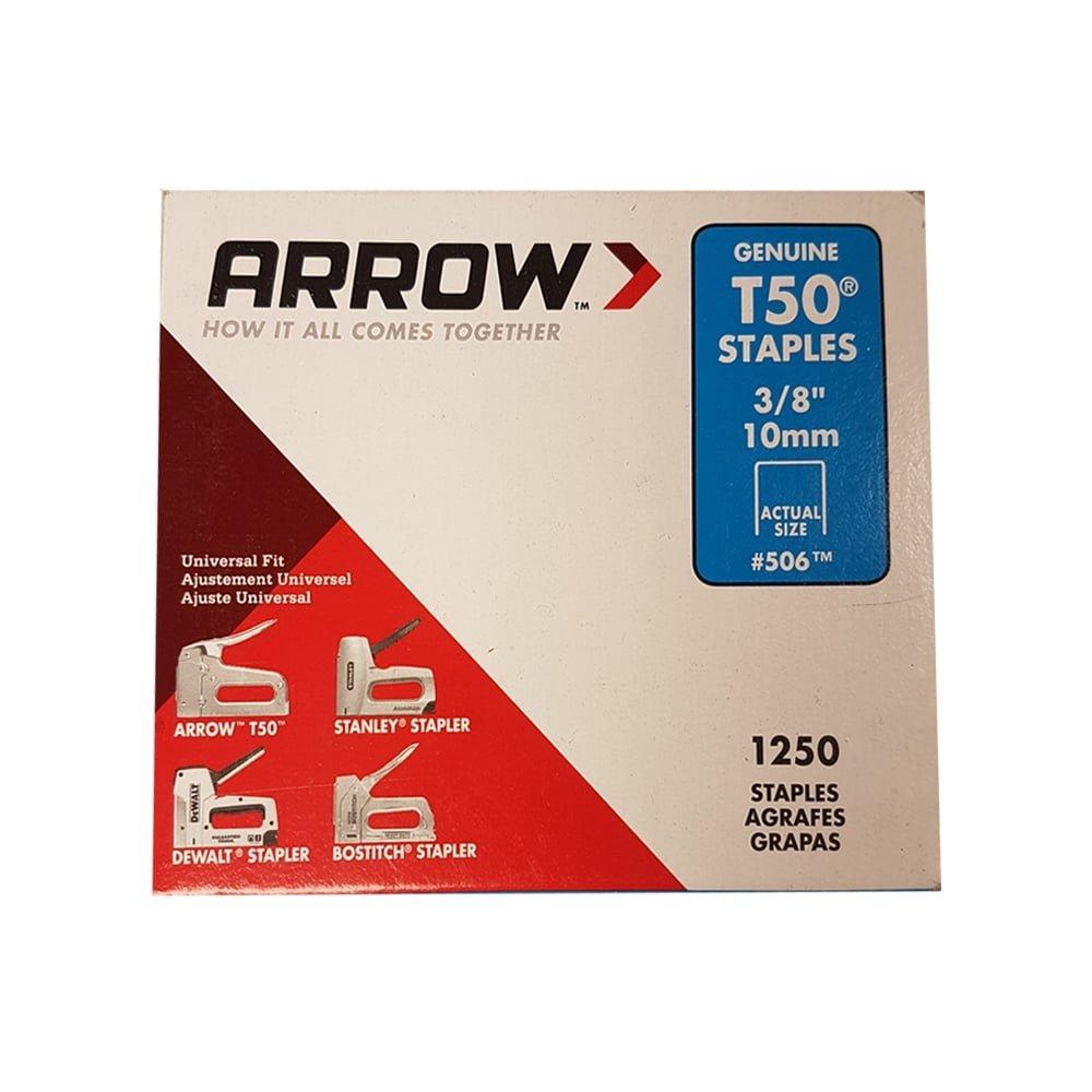 Arrow Fastener 50624SPTP 3//8 T50 Staples
