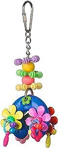 Super Bird Creations SB1085 Flower Power Bird Toy, Small/Medium Bird Size, 7