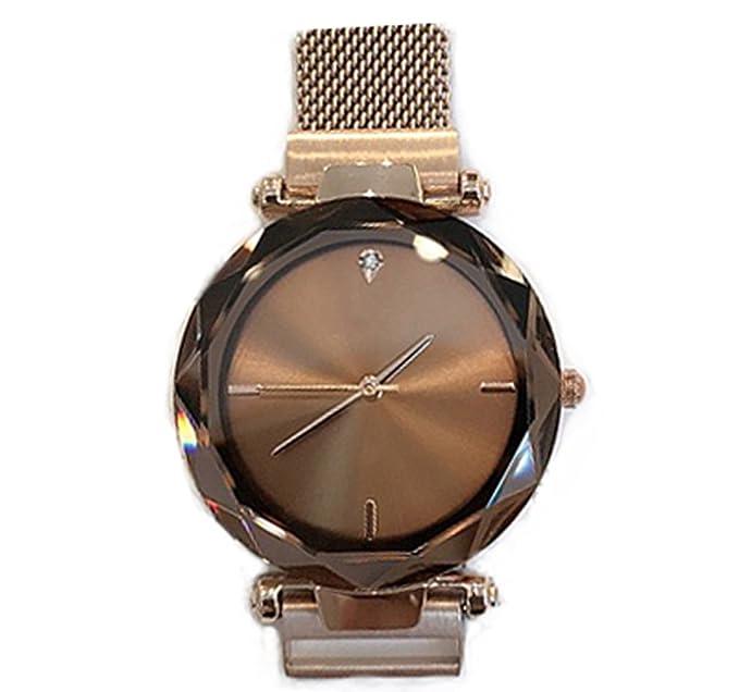 Reloj para mujer 2018 New Trend Reloj para correa impermeable de acero con esfera grande: Amazon.es: Relojes
