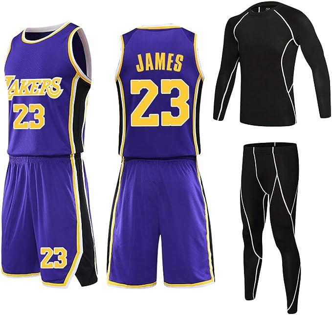 Niños Niño Lebron James Baloncesto Jersey, Los Angeles Lakers # 23 ...