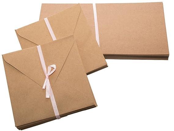 Papermania Karten, quadratisch, 13,5 cm, Kraftpapier, Braun, 50 Stück