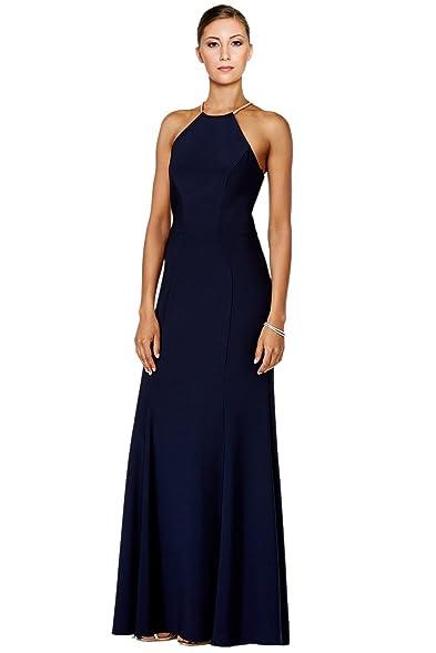 Xscape Womens Matte Jersey Embellished Formal Dress Navy 4
