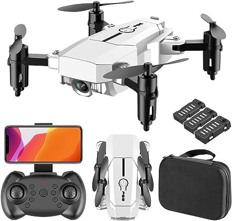 Opinión sobre Plegable Drone, Drone Profesional con Camara 4k, WiFi FPV Drone Tiempo Real, Admite Experiencia 3D VR, Modo sin Cabeza RC Quadcopter El Tiempo Vida es Unos 36 Minutos