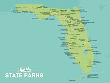 Flordia State Map.Amazon Com Best Maps Ever Florida State Parks Map 18x24 Poster