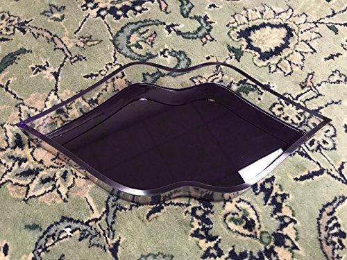 Acrylic Lip Shaped Tray by AREA. Acrylic Decorative Tray (Purple)
