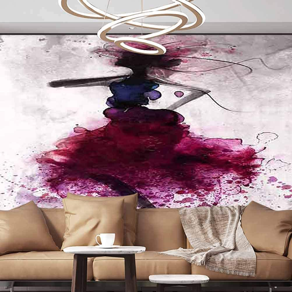 Albert Lindsay Backdrop Wallpaper Mural Digital Painting of Traveler Jumping Removable Large Sticker,96x76 inches/245x193 cm,Wall Stickers for Office Livingroom Bedroom Home Decor