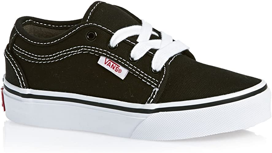 Vans Chukka Lowキッズ靴ブラックホワイト | 運