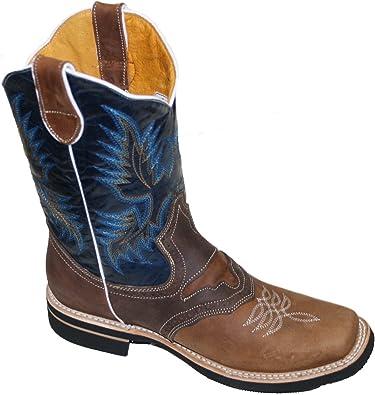 Men Cowboy Genuine Cowhide Leather
