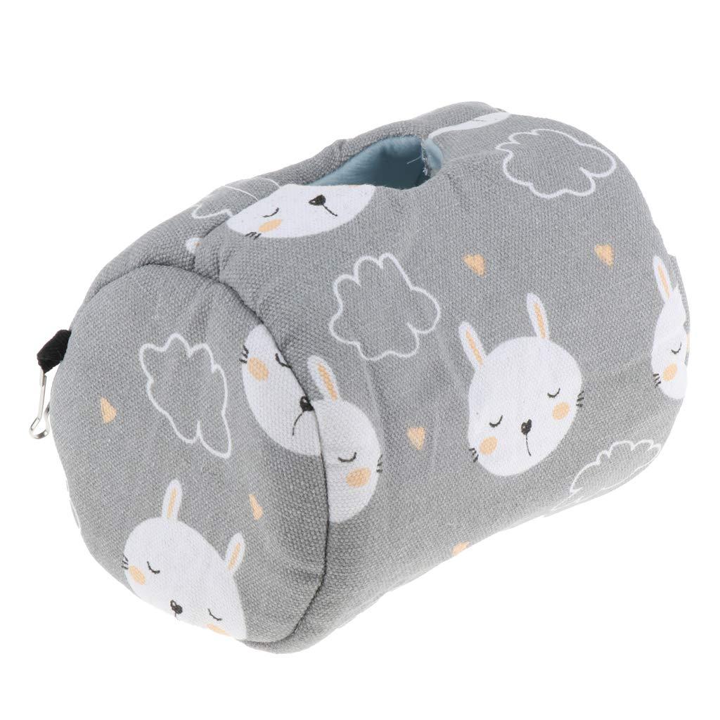 Lapins Gris HomeDecTime Nid Suspendu Maison Lit Hamster Jouet de Cage Espace Respirant