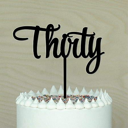 Decoración para tarta de 30 años de edad, decoración para ...