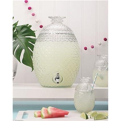 Vintage piña cristal cóctel hielo té bebidas frías bebidas dispensador 10.3l