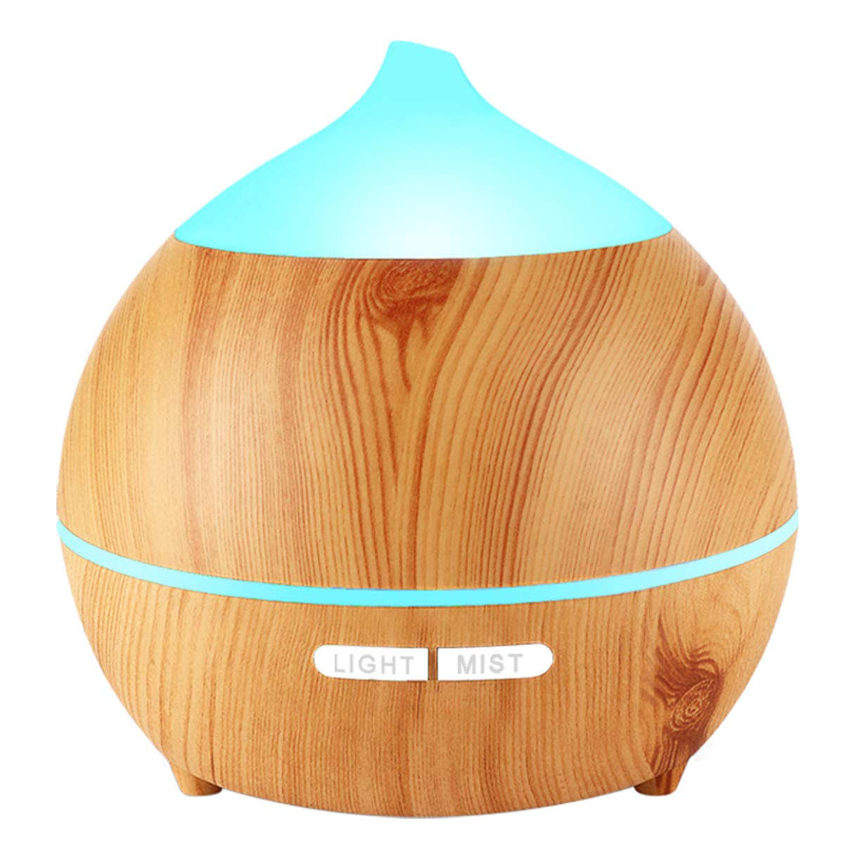Essential Oil Diffuser, Appolab 250ml Wood Grain diffuser With 8 Colorful LED Light, Auto Shut Off, Adjustable Mode Aroma Diffuser For Baby, Yoga, Spa, Home, Office (1 Pack)
