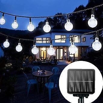 30 LED Solar Powered Fairy Lights String Crystal Ball Garden Outdoor Party Decor