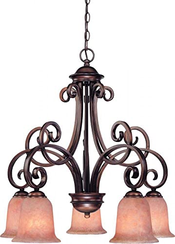 Dolan Designs 2099-133 Medici 5 Light Chandelier, English Bronze