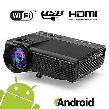 Mini Proyector Andriod Portátil Videoproyector: Amazon.es: Electrónica