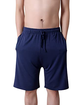 c876a4da00 Dolamen Homme Bas de pyjama Shorts, Homme Coton modal Sous-vêtements  Caleçon Boxer Trunk