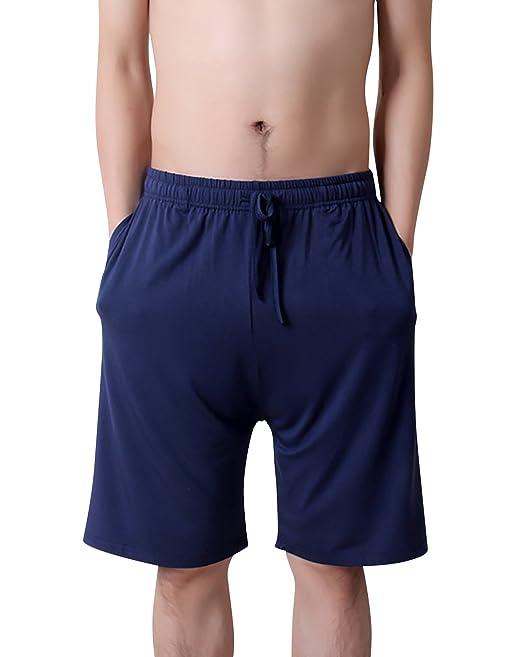 Dolamen Hombre Pantalones de pijama Algodón Modal, Pantalones Boxeador Cortos Trunk Shorts Ropa de dormir