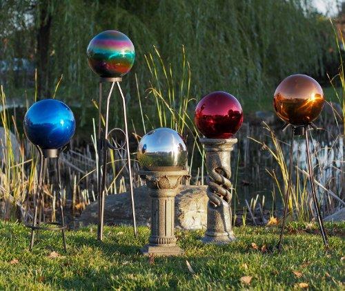 Echo Valley 8105 10-Inch Glass Gazing Globe, Red