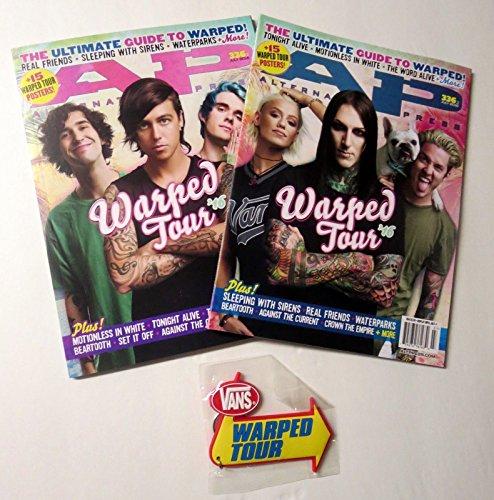 Alternative Press 2x 2016 Warped Tour Magazine set w/Vans Keychain Motionless + by Loa_Autographs