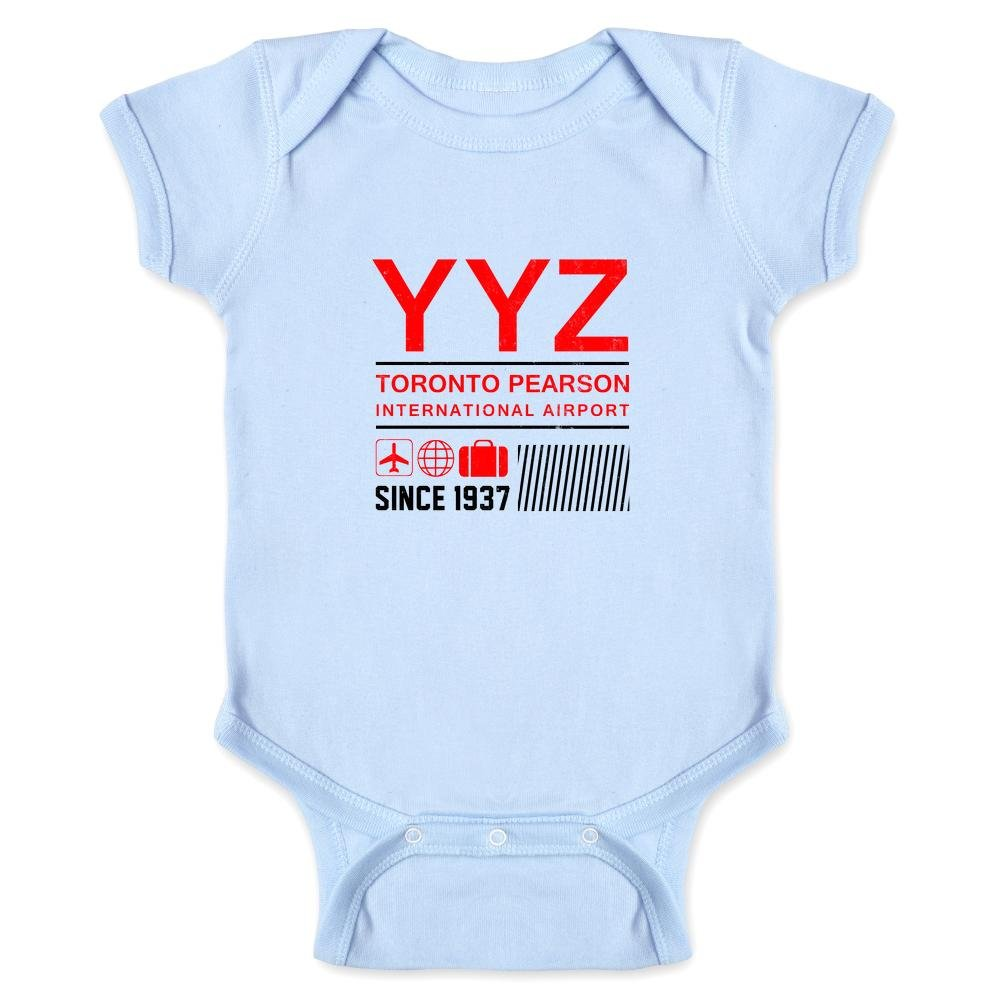 Pop Threads YYZ Toronto Airport Code Since 1937 Travel Infant Bodysuit 1755-201