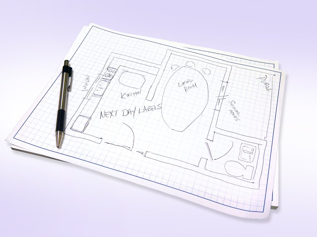 11x17'' / Blueprint and Graph Paper (1 Pad) by Next Day Labels