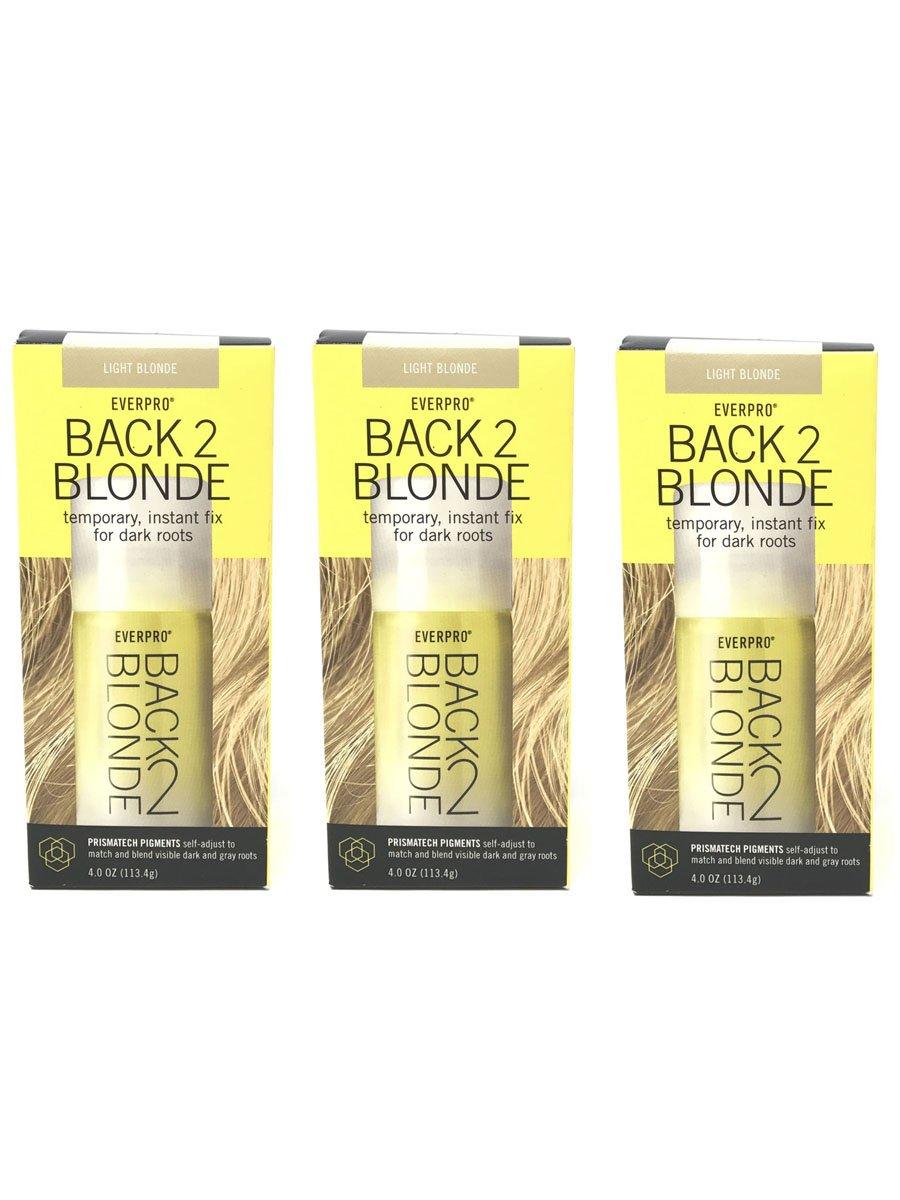 Set of 3 Everpro Back 2 Blonde Temporary Instant Fix Light Blonde Hair Color Spray by Everpro