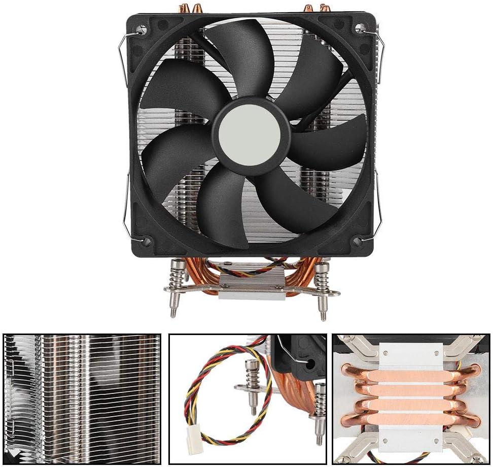 Bewinner Enfriador de CPU, 4 Heatpipe Disipación de Calor silenciosa Ventiladores de enfriamiento de CPU de Tubo de Calor en Forma de U para Intel LGA 1366, 775 1150 1151 1155 1156 1366 2011