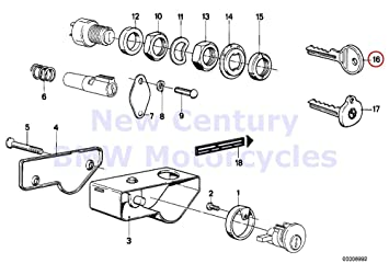 61E%2B7h4rvqL._SX355_ amazon com bmw genuine motorcycle standard key (blank) r100 7t r100
