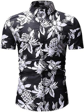 MJCDNB Camisa Impresa para Hombre, para Hombre Summer Beach Camisa Hawaiana Marca de Manga Corta Tallas Grandes Camisas Florales Hombres Ropa Informal Camisas de Manga Corta Estampadas: Amazon.es: Hogar
