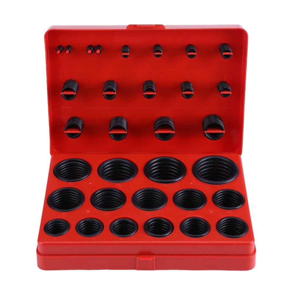 347Pcs Universal O-Ring Assortment Set Pneumatic Air Rubber Hydraulic Tool Set for Plumbing Automotive and General Repair