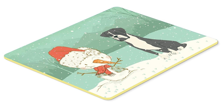 Caroline's Treasures CK2035JCMT ブラックボクサーと雪だるまのクリスマスキッチンまたはバスマット 24x36、24Hx36W、マルチカラー   B07J1WWGS4