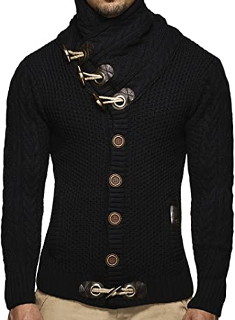 New Mens Knit Slim Fit Overcoat Cardigan Sweater Long Sleeved Outwear Plus Size