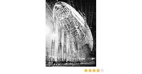 Vintage Photography Uss Macon Airship Zeppelin Construction Inch Framed Print