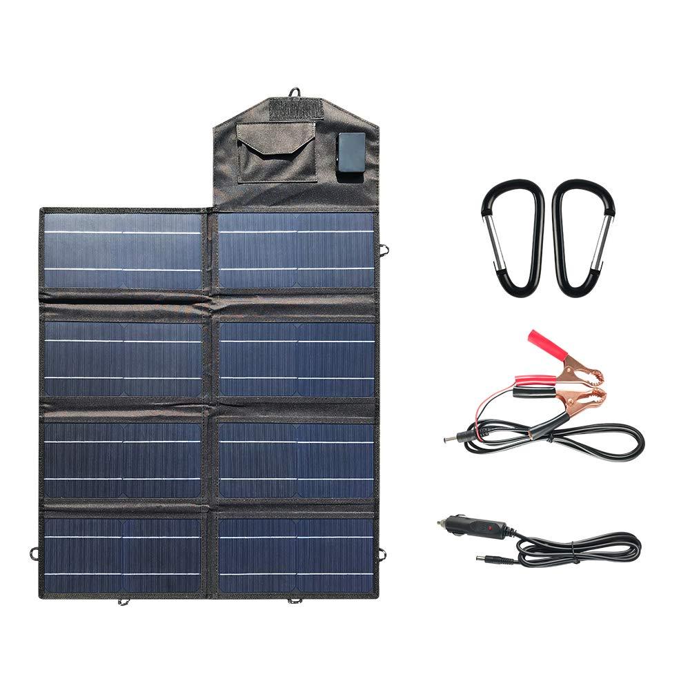 SoundRevo 50W Foldable Solar Panel Charger Kit for Portable Generator