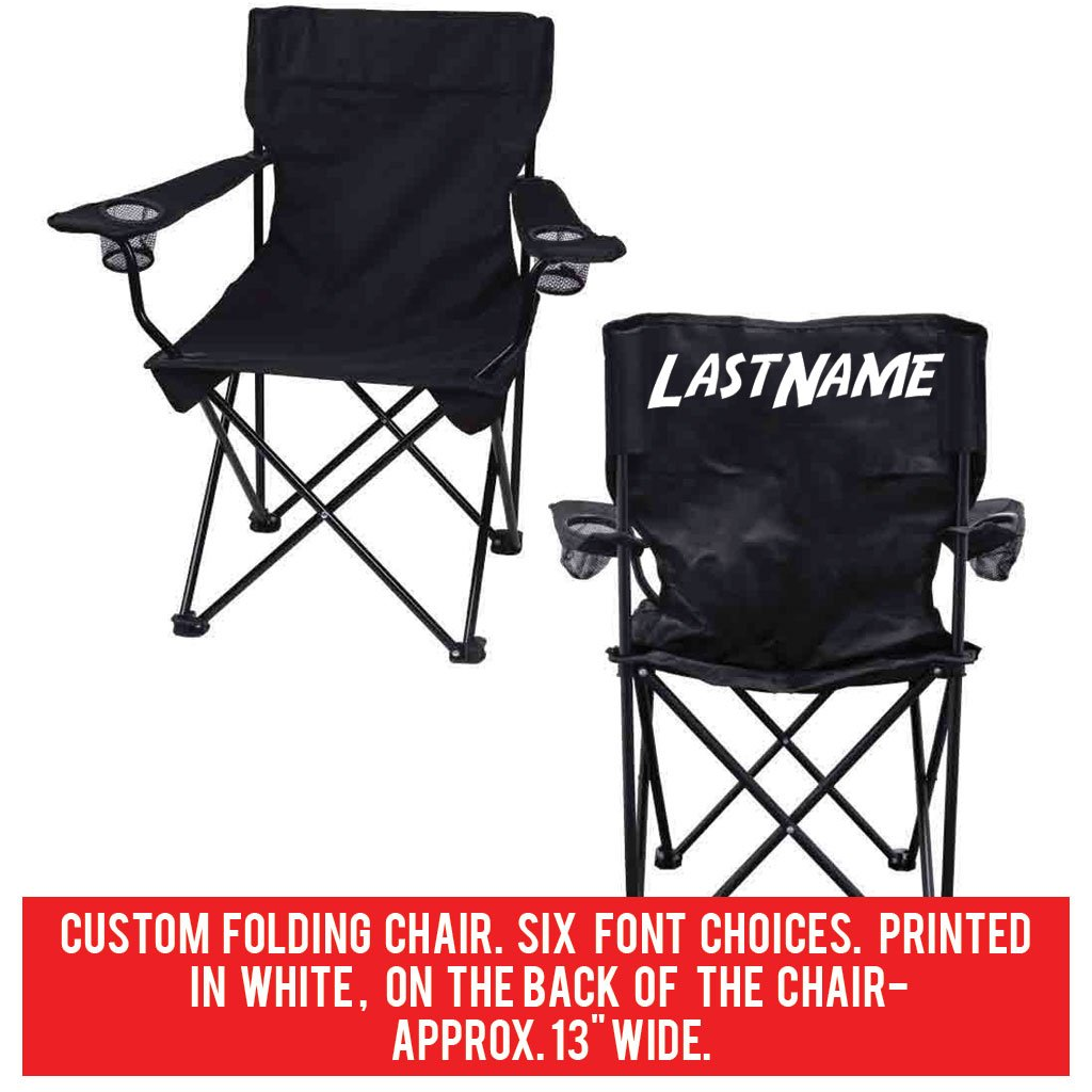 Ordinaire Amazon.com : VictoryStore Outdoor Camping Chair   Custom Last Name Folding  Chair  Black Camping Chair With Carry Bag : Sports U0026 Outdoors