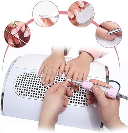 Arte de uñas Colector de succión de polvo Poder fuerte Eléctrico 3 ventiladores Aspirador Extractor Máquina Secador de uñas profesional Salón de arte Equipo de recolección de poco ruido: Amazon.es: Belleza