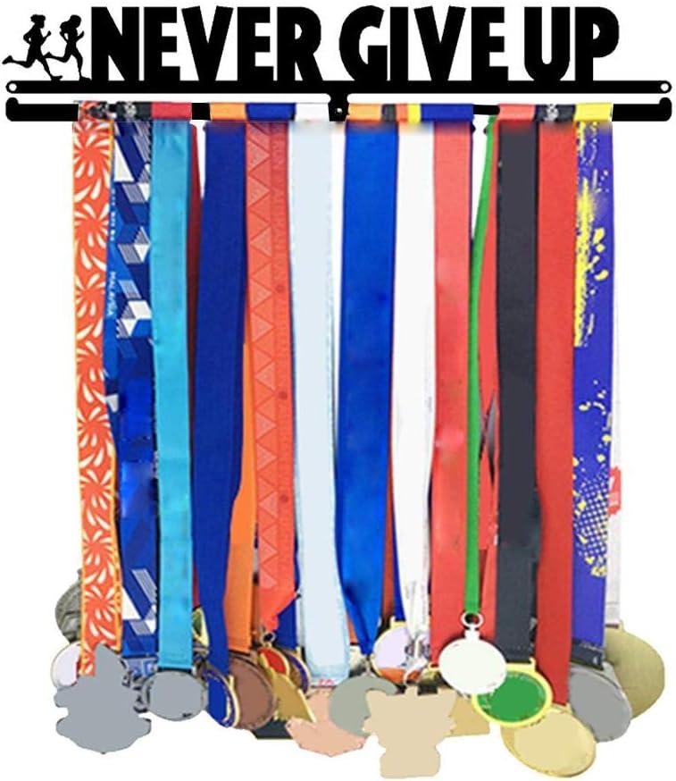 fervory Soporte De Medallas Gancho De Exhibición De Medalla Deportiva Soporte De Percha De Medalla De Acero Inoxidable Marco De Estante De Exhibición Montada En La Pared