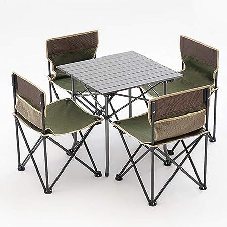 DX Mesa de Camping,Mesa para Acampada Juego de Mesa y Silla ...