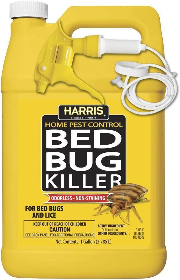 Amazon Com Harris Bed Bug Killer Liquid Spray With Odorless And Non Staining Formula Gallon Bedbug Spray Garden Outdoor