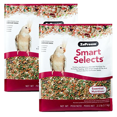 ZuPreem Smart Selects Daily Bird Food for Cockatiels & Lovebirds 5.0 LB