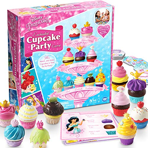 Wonder Forge Disney Princess Enchanted Cupcake Party Game For Girls & Boys Age 3 & Up - A Fun & Fast Matching Party Game You Can Play Over & Over (Play For Girls Games)