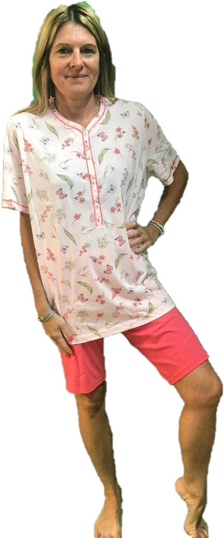 73621 Linclalor Pigiama Manica Corta Pantalone Bermuda Puro Cotone Art