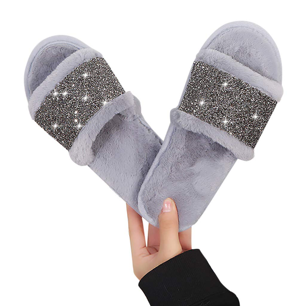 Geetobby Womens Outdoor Summer Shoes Slides Sandals Shiny Slippers for Beach