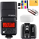 GODOX TT350F 2.4G HSS 1/8000s TTL GN36 Camera Flash Speedlite for Fuji Digital Camera,GODOX X1T-F TTL 1/8000s HSS 32 Channels 2.4G Flash Trigger Transmitter for Fuji DSLR Cameras