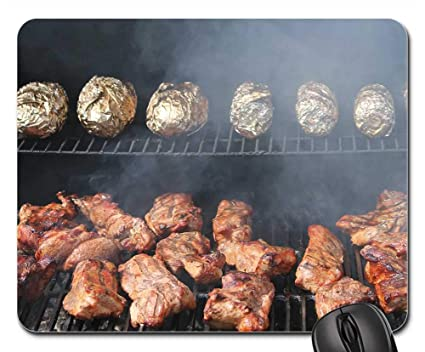 Amazoncom Mouse Pads Barbecue Bbq Oklahoma Midwest City Good